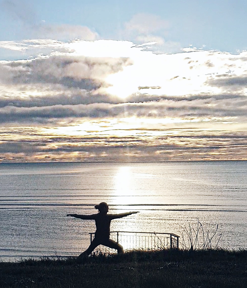 Yoga on Inchydoney in West Cork