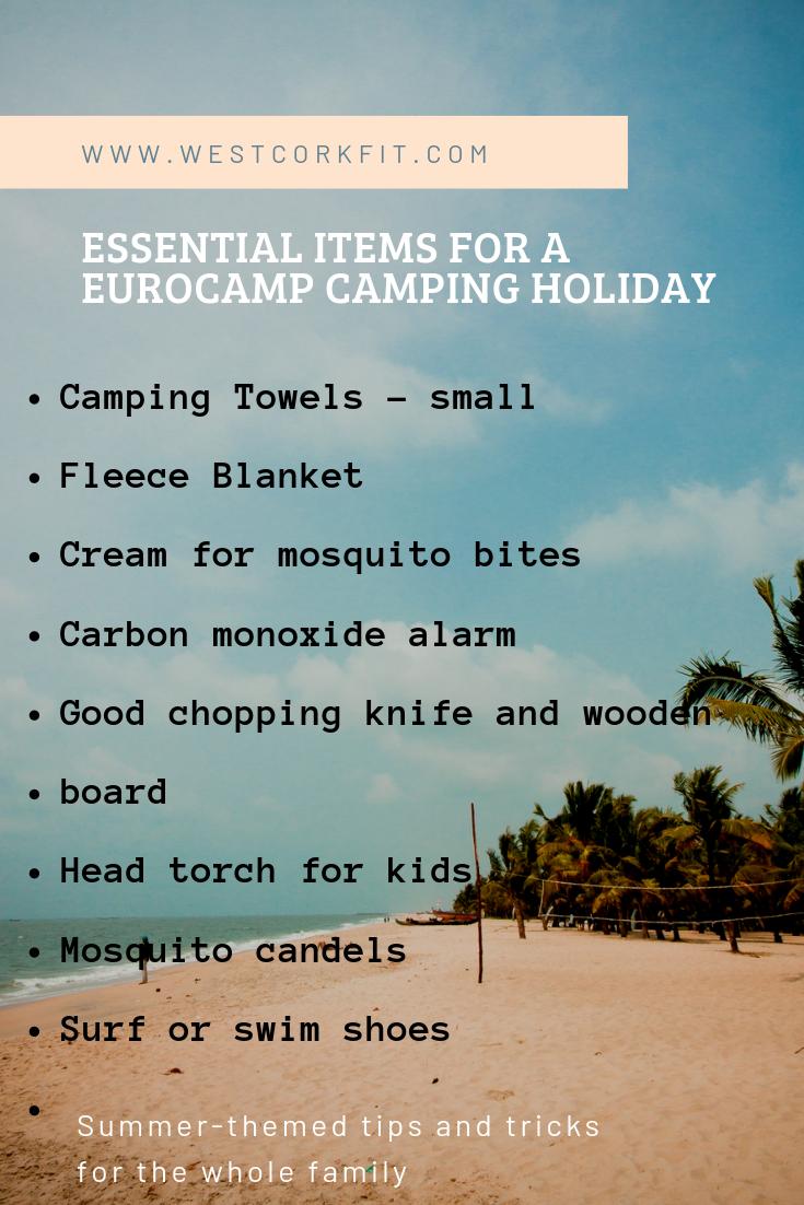 list of essentials for camping at La Sirène